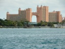 Atlantis Hotel on Paradise Island Seen from Pier (Large)