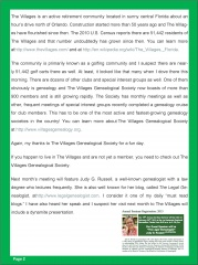 7 - Thank You to The Villages Genealogical Society - Dick Eastman p2