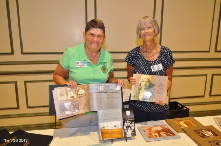 Ruth & Allison with their family history books